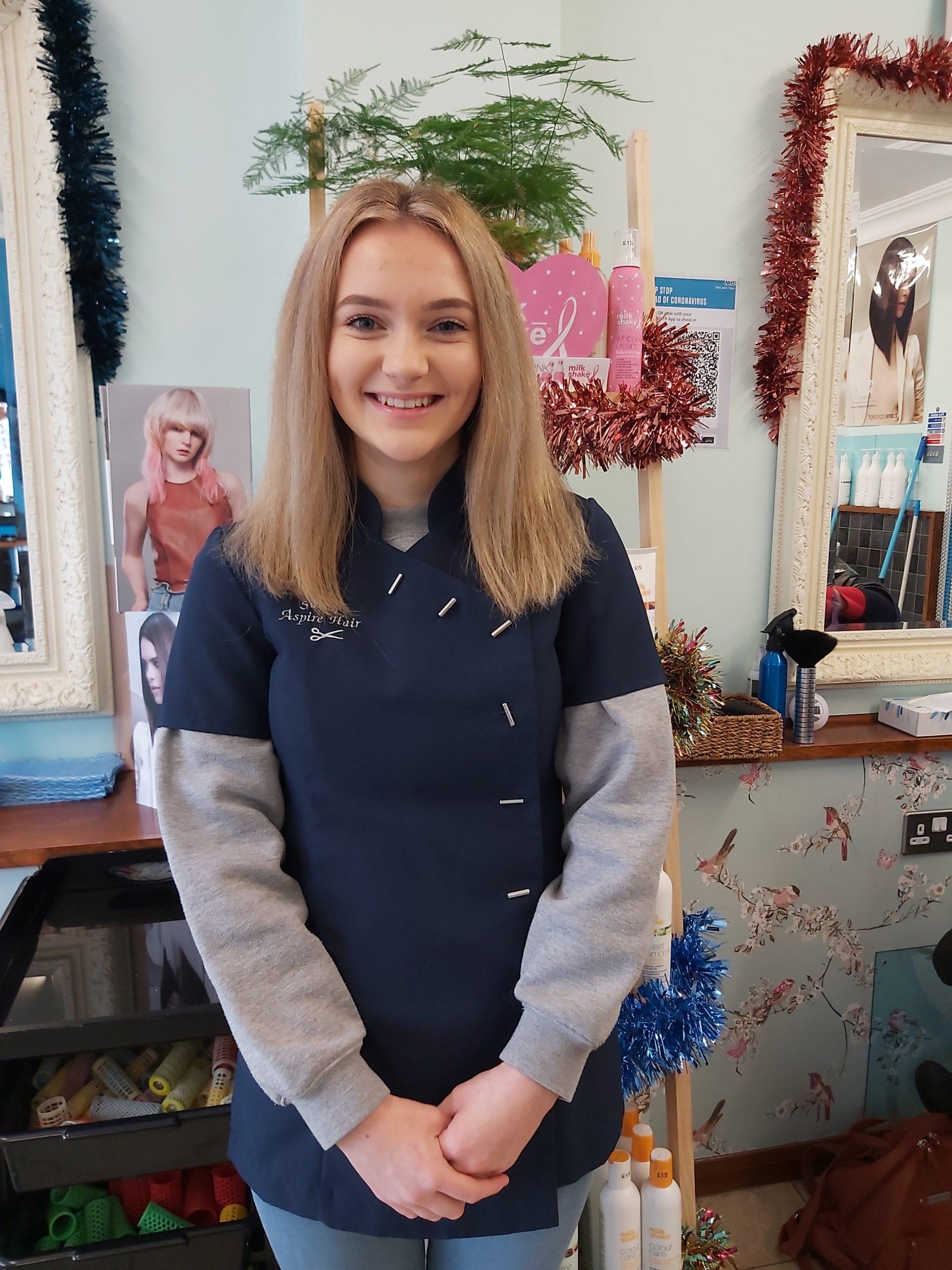 sasha- aspire hair salon staff